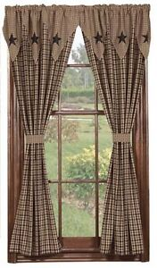 Lined Drapes Black New Pattern From IHF Vintage Star