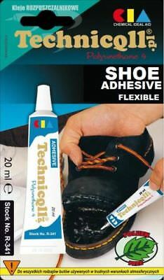 STRONG ADHESIVE GLUE FOR SHOES LEATHER RUBBER FELT NYLON LEATHERETTE TRANSPARENT