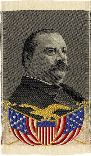 1888 Grover Cleveland Woven Silk Campaign Ribbon (5019)