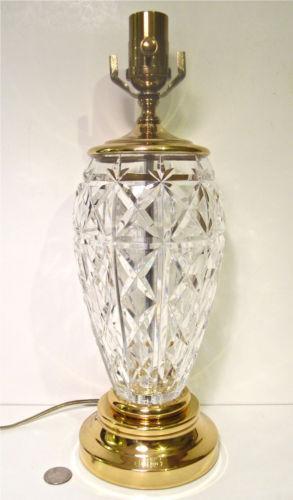 Vintage Cut Glass Lamp Ebay