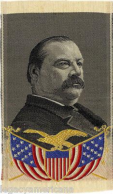1888 Grover Cleveland Woven Silk Campaign Ribbon (5019)