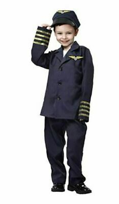 Boys Pilot Costume (Child's Airline Pilot Costume Small 3-5 Years Complete Outfit Halloween Boy)