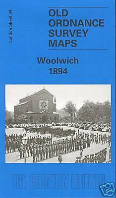 OLD ORDNANCE SURVEY MAP WOOLWICH 1894 LONDON SHEET 094.2