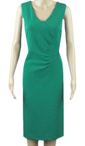 New Ex M/&S Ladies Black Knee Length Work Dress Size 8-22 Sleeveless V Neck