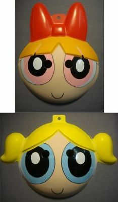 Halloween Powerpuff Girls (PowerPuff Girls Blossom and Bubbles PVC Mask Halloween Costume NEW)