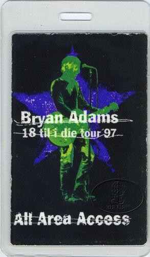 BRYAN ADAMS 1997 LAMINATED BACKSTAGE PASS ALL ACCESS