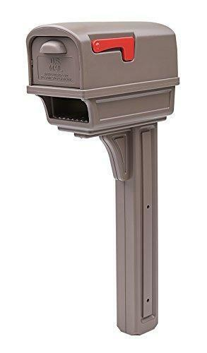 Gibraltar Mailboxes Gentry Large Capacity Double-Walled Plastic Mocha,