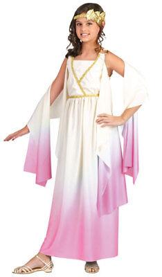 Girls Athena Costume - Pink Grecian Halloween Dress - Greek Costume For Girl