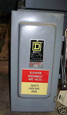 Square D Safety Switch 3 Pole 60 Amp 600 Vac