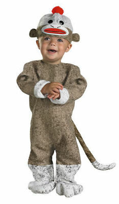 Cute Sock Monkey toddler costume 12-18 Months(E) - Sock Monkey Toddler Costume