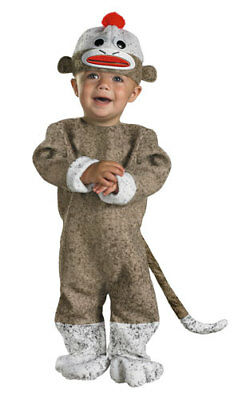 Sock Monkey Infant/Toddler Costume 12-18M - Sock Monkey Toddler Costume