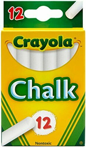 Crayola White Chalk 12 Each New Perfect For Teachers and Professors (51-0320)