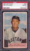 1954 Bowman 66 Ted Williams