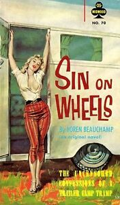 Vintage-Sin-On-Wheels-Pulp-Cover-Poster-A3-A2-Reprint