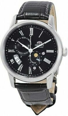 Orient FAK00004B Men's Sun and Moon Version 3 Leather Band Automatic Watch