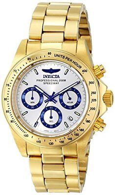 Invicta Men's Speedway Chronograph 200m Gold Plated Stainless Steel Watch 17312