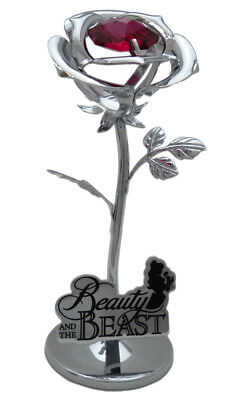 Disney Beauty And The Beast 2017 Rose Ornament Keepsake Collectable Gift Boxed