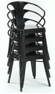 Black Stackable Chairs stacking chairs | ebay