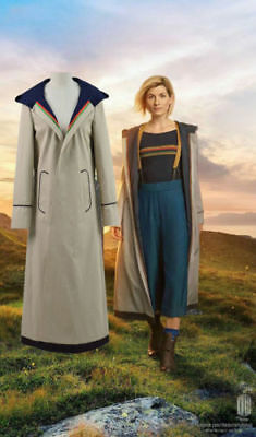 13th female Doctor who Cosplay Costume Coat 13th Doctor Jodie Cosplay Costume](Female Doctor Costume)