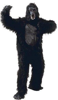 Herren Damen Deluxe Gorilla Anzug Affe Fest Herrenabend Kostüm Kleid Outfit