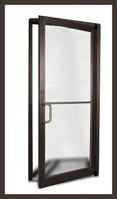 COMMERCIAL ALUMINUM STOREFRONT DOOR & FRAME (DARK BRONZE OR CLEAR FINISH) 2017