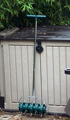 Greenkey Garden and Home Ltd 700 Rolling Lawn Aerator, Green or Black