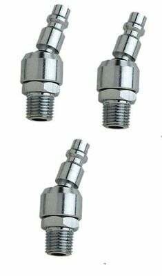 Universal swivel 1/4 inch air couplers 3 pack