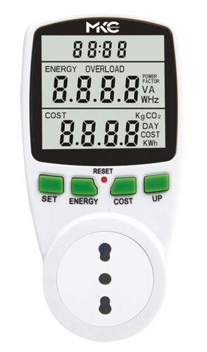 LCD Contatore Elettrico Misuratore del Consumo di Energia Potenza Corrente Watt