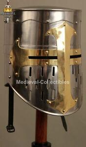 Medieval Knight Crusader Armor Templar Helmet