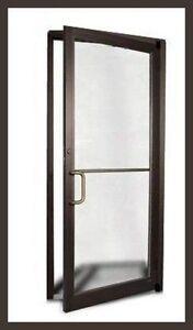 COMMERCIAL ALUMINUM STOREFRONT DOOR U0026 FRAME (DARK BRONZE OR CLEAR FINISH)  2017