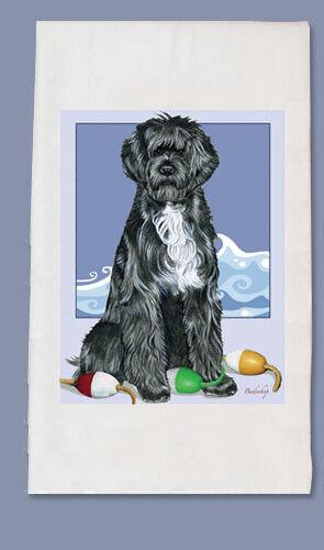 Portuguese Water Dog Dish Towel