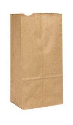 6LB BROWN DURO PAPER GROCERY BAGS, FLAT BOTTOM, 500/PKG, 6 x 3-5/8 x 11-1/16