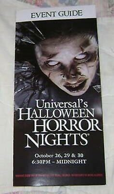 HTS 18 UNIVERSAL MAP EVENT GUIDE #5 (Halloween Horror Nights 18)