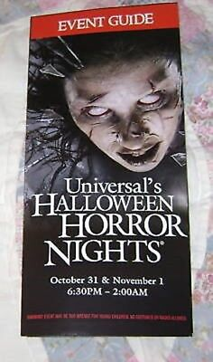 HTS 18 UNIVERSAL MAP EVENT GUIDE #6 (Halloween Horror Nights 18)
