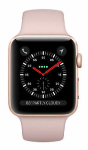Apple Watch Series 3 38mm Gold Aluminum Case, Pink Sand Sport Band  (MQKW2LL/A)