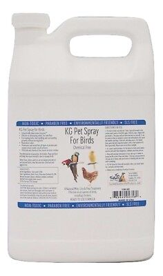 KG Pet Spray for Birds - 128oz Eradicate Mites, lice fleas infused with Enzymes!