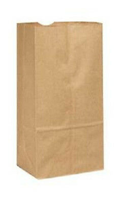 8lb Brown Duro Paper Grocery Bags Flat Bottom 6 18x4 16x12 716 100pkg