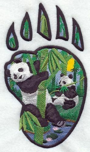 Embroidered Fleece Jacket - Panda Track M1653 Sizes S - XXL