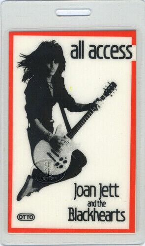 JOAN JETT 1983 TOUR LAMINATED BACKSTAGE PASS