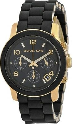 Michael Kors MK5191 Runway Sport Watches Quartz Black Silicone Women's Watch