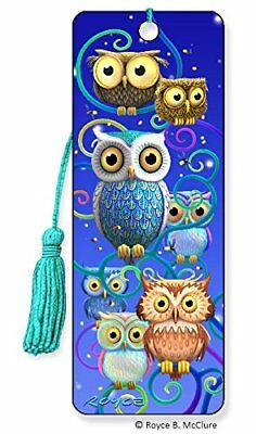 3D Bookmark - Night Owls Ideal for Book Reader to Mark Page Adult or Children - 3d Bookmarks For Kids