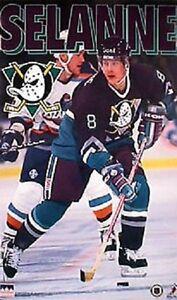 1996-Teemu-Selanne-Anaheim-Ducks-Original-Starline-Poster-OOP