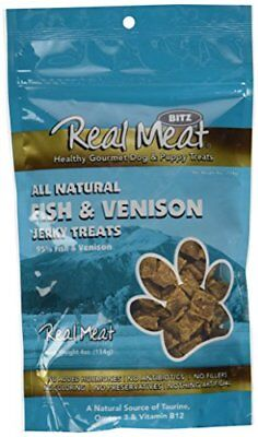 Real Meat FISH & VENISON JERKY Dog Treats 4 oz