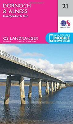 Landranger (21) Dornoch & Alness, Invergordon & Tain (OS Map) Por Ordn
