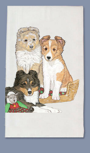 Sheltie Dish Towel