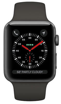 Apple Watch Series 3 38mm Space Gray Aluminium Case with Gray Sport Band