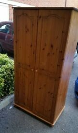 tongue and groove solid pine wardrobe