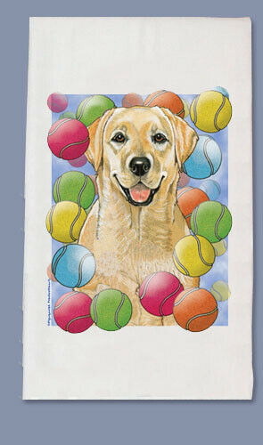 Labrador Yellow Dish Towel
