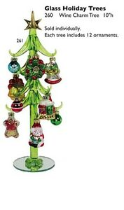 Art-Glass-Tree-with-12-Wine-Charm-Ornaments