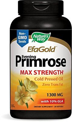 Nature's Way Evening Primrose Efa Gold Cold Pressed Oil 1300mg 120 Softgels (Efa Gold Evening Primrose Oil)